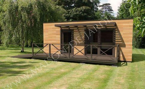 Constructeur de maisons et studios de jardin ossature bois cl en main partir de 19 900 - Jardin dans une maison poitiers ...